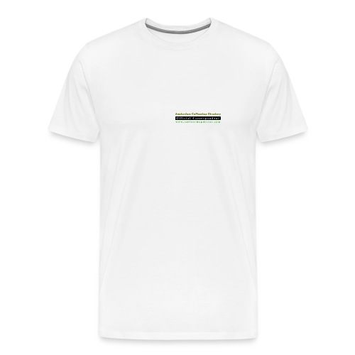 Correspondent with Map on back - Men's Premium T-Shirt