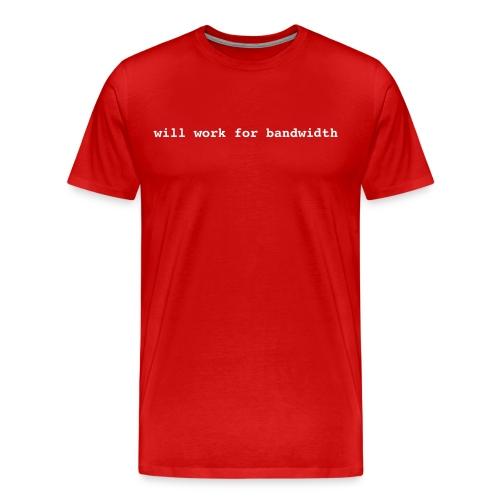 Work/Bandwidth Red Tee - Men's Premium T-Shirt
