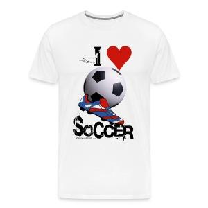 love soccer - Men's Premium T-Shirt