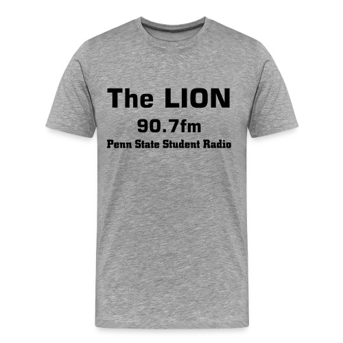 The LION Grey Tee - Men's Premium T-Shirt