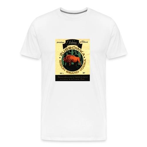 Vintage Vodkas Tee - Zubrowka - Men's Premium T-Shirt