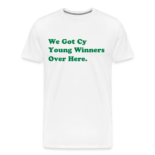 White/Green - Men's Premium T-Shirt