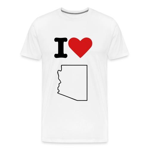 I Love AZ (w) - Men's Premium T-Shirt