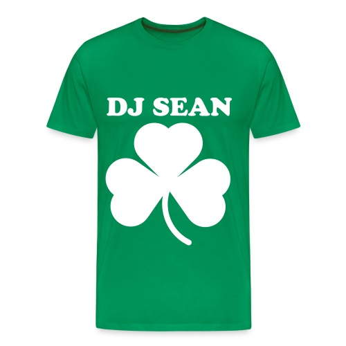 Mens Dj Sean Shamrock T-Shirt XXXL - Men's Premium T-Shirt