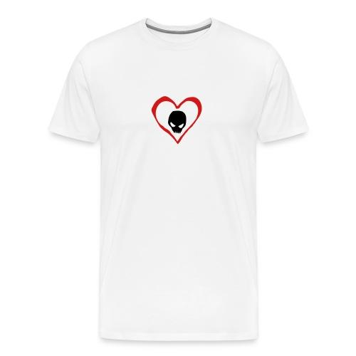 Heart Skull - Men's Premium T-Shirt