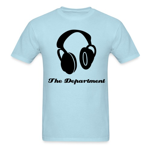 the department headphones. - Men's T-Shirt