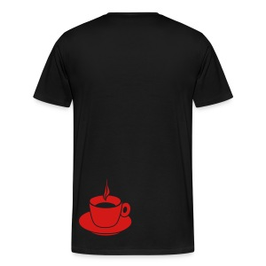 Heart T-Shirt (black/red) - Men's Premium T-Shirt