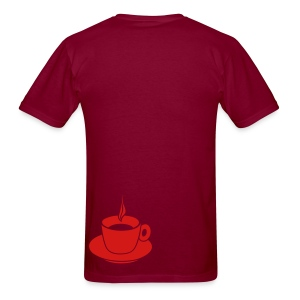 Heart T-Shirt (Bordeaux) - Men's T-Shirt