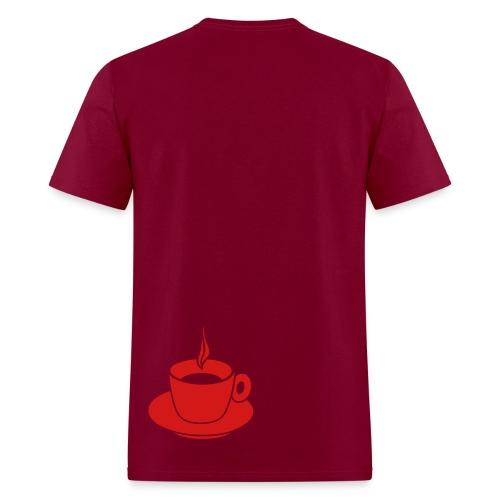 Heart T-Shirt (Bordeaux) - Men's T-Shirt