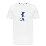 T-Shirts ~ Men's Premium T-Shirt ~ Swirly Buzzout White