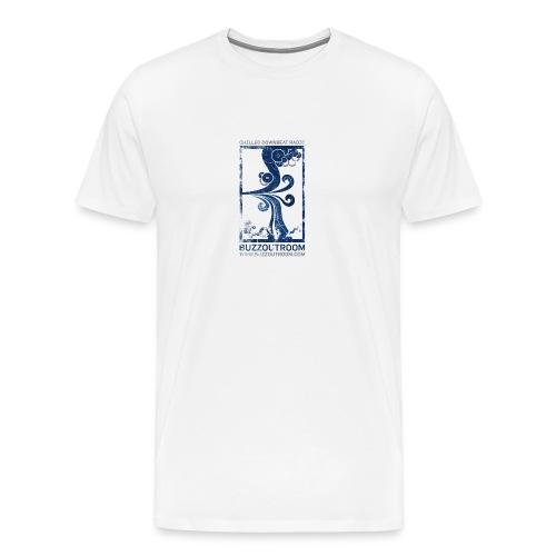 Swirly Buzzout White - Men's Premium T-Shirt