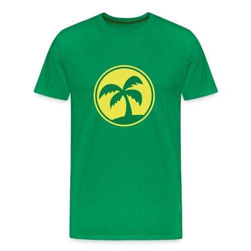 Green palm tree t-shirt - Men's Premium T-Shirt