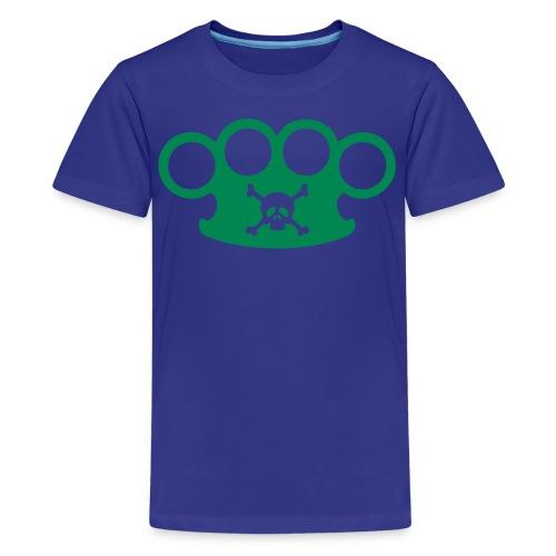 brassknuckles and crossbones  - Kids' Premium T-Shirt