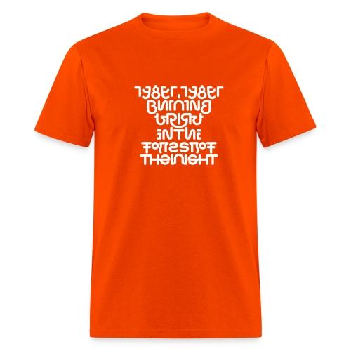 Tyger front/back (white on_) - Men's T-Shirt