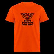 T-Shirts ~ Men's T-Shirt ~ Tyger front/back (black on _)