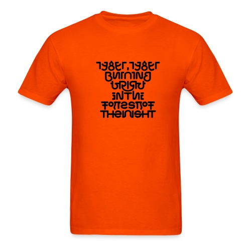 Tyger front/back (black on _) - Men's T-Shirt