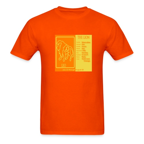 Leo Color Square Zodiac Tee - Men's T-Shirt