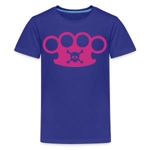 brassknuckles with crossbones - Kids' Premium T-Shirt