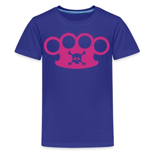 brassknuckles with crossbones - Kids' Premium T-Shirt