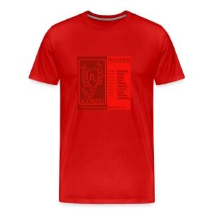 Scorpio Color Square Zodiac Tee - Men's Premium T-Shirt