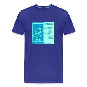 Pisces Color Square Zodiac Tee - Men's Premium T-Shirt