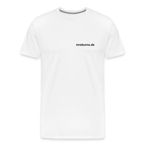 mrsburns.de Men's T-Shirt (white) - Men's Premium T-Shirt