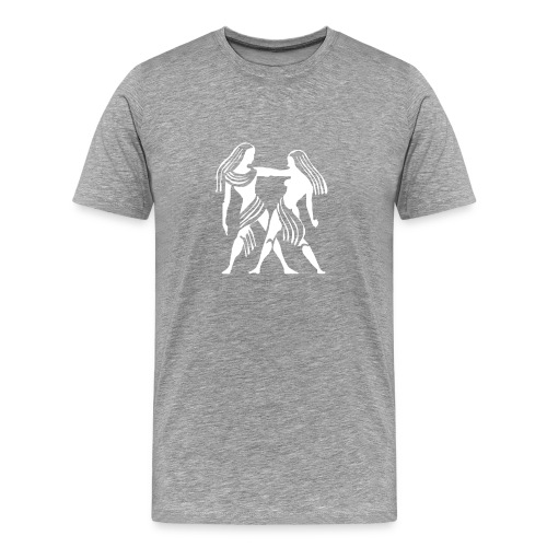 Heavyweight Cotton T-Shirt (Gemini Print) - Men's Premium T-Shirt