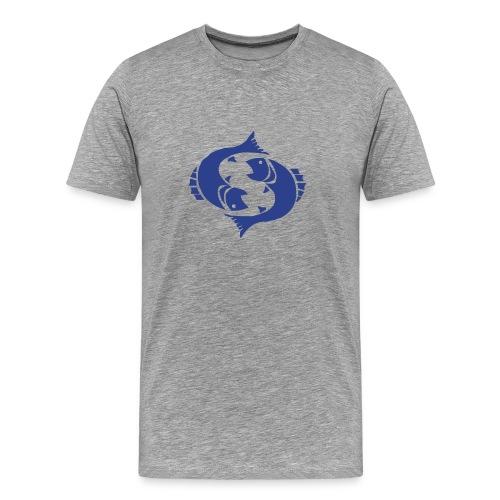 Heavyweight Cotton T-Shirt (Pices Print) - Men's Premium T-Shirt