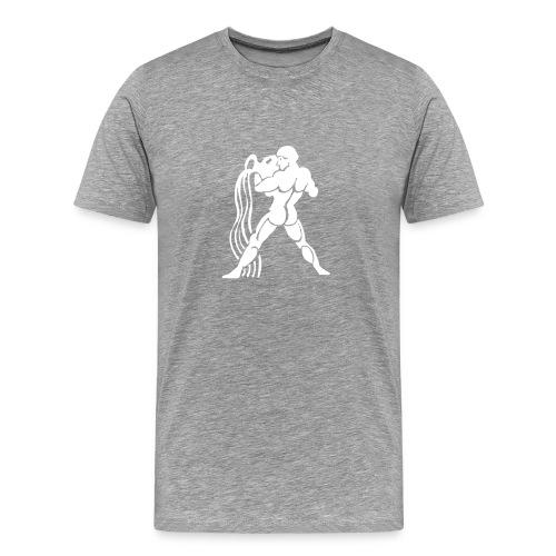 Heavyweight Cotton T-Shirt (Aquarius Print) - Men's Premium T-Shirt