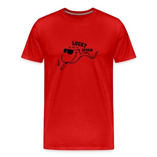 Lucky Sperm Heavy Tee - Men's Premium T-Shirt