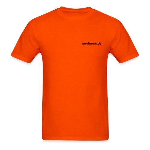 mrsburns.de Men's T-Shirt (orange) - Men's T-Shirt