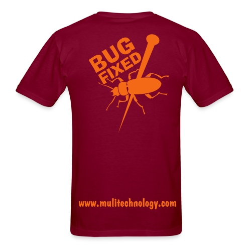 Burgundy Bug Fixed Cotton Tee - Men's T-Shirt
