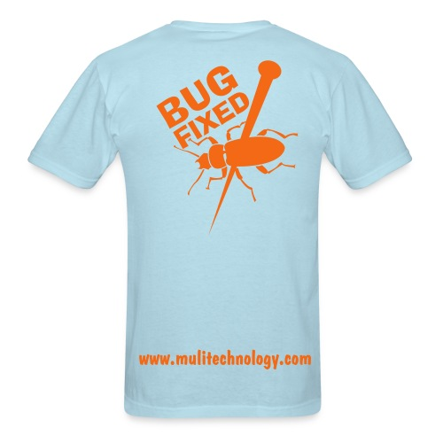 Sky Blue Bug Fixed Cotton Tee - Men's T-Shirt
