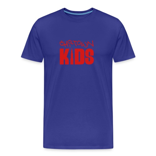 Blue & Red Graffiti Tee - Men's Premium T-Shirt