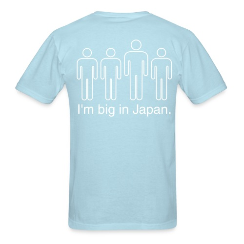 Name on front and Big In Japan design on back - Men's T-Shirt