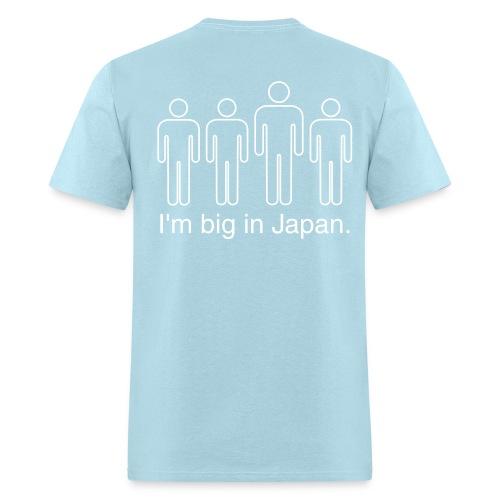 Name on front and Big In Japan design on back - Men's T-Shirt