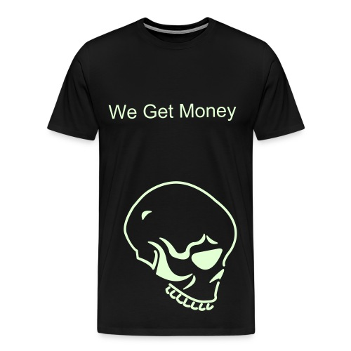 Glow In The Dark Skull Head Tee - Men's Premium T-Shirt