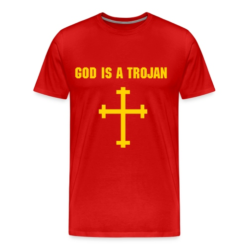 God is a Trojan - Men's Premium T-Shirt