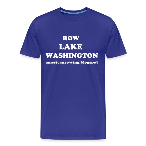 Row Lake Washington - Men's Premium T-Shirt