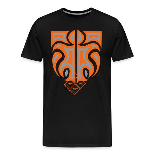 [Black Divided City T-Shirt] - Men's Premium T-Shirt
