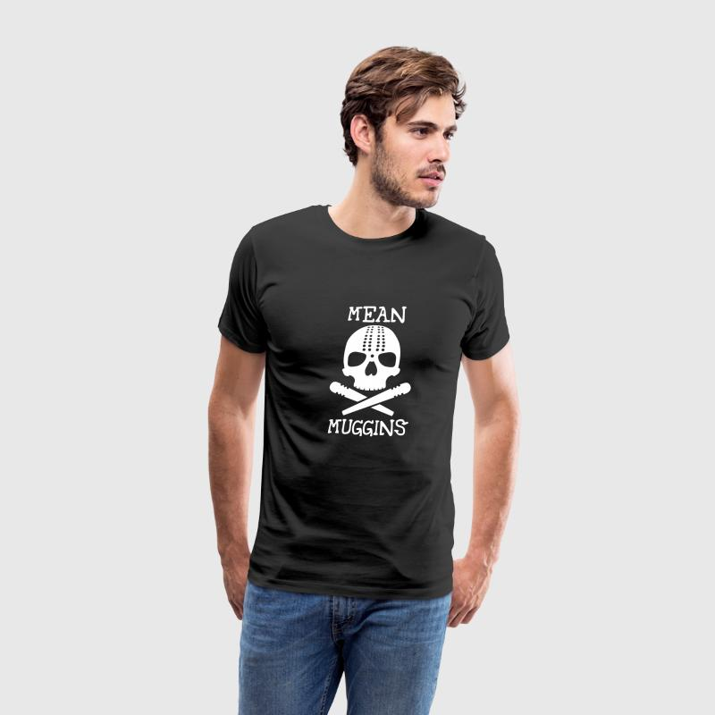 Black Mean Muggins Cribbage Men - Men's Premium T-Shirt