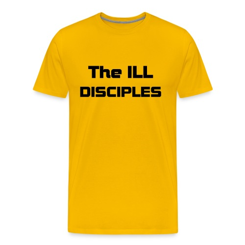 Yellow ILL Disciples T w/ ID on sleeve - Men's Premium T-Shirt