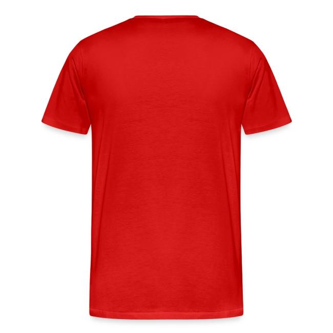 T-Shirt QB-on-the-run white-on-green