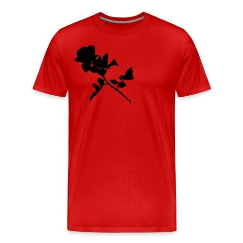 Silhouetted Rose - Men's Premium T-Shirt