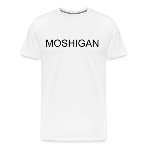 moshigan black on white - Men's Premium T-Shirt