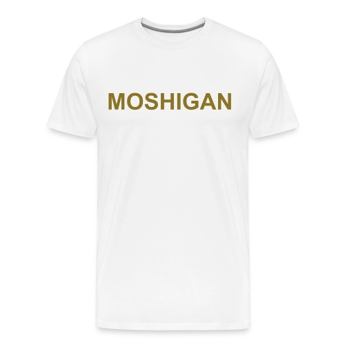 moshigan metallic gold - Men's Premium T-Shirt