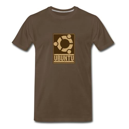 Ubuntu - Unofficial Brown T - Men's Premium T-Shirt