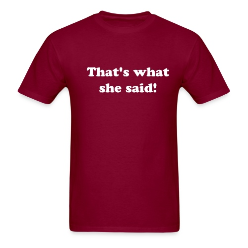 t-shirt with white text - Men's T-Shirt