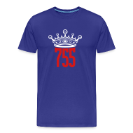 T-Shirts ~ Men's Premium T-Shirt ~ Blue Home Run King