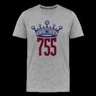 T-Shirts ~ Men's Premium T-Shirt ~ Jumbo Print Grey King